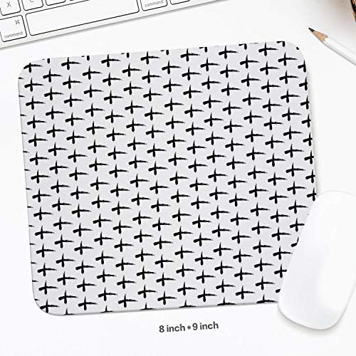 Unisex Woman Ash Wednesday Cross Pattern Black White Trendy Mouse pad Gaming Style Schoolsuppies Christmas ()