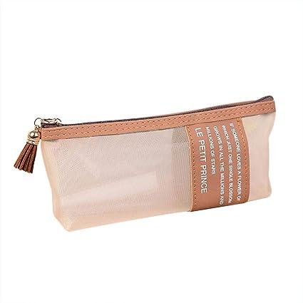 1 estuche de papel de carta de Fansi, monocromo, sencillo estuche, para el colegio, uso diario, color marrón 20cm×4cm×8cm: Amazon.es: Oficina y papelería