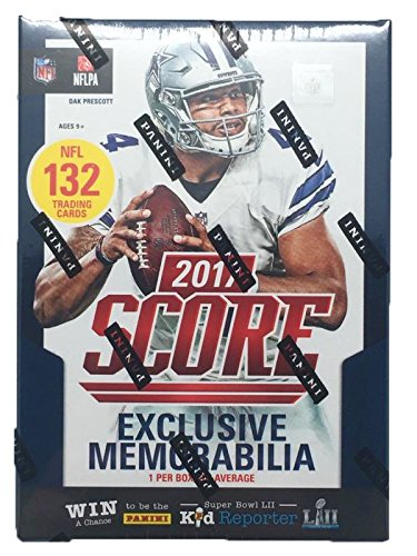 2017-NFL-Score-Football-Cards-Factory-Sealed-Panini-Retail-Box-BONUS-PACK-INCLUDED