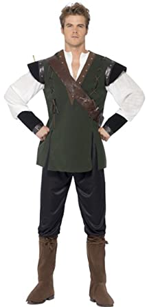 Robin Hood Costume Medium  sc 1 st  Amazon.com & Amazon.com: Mens Tales Of Old England Fancy Dress Medieval Robin ...