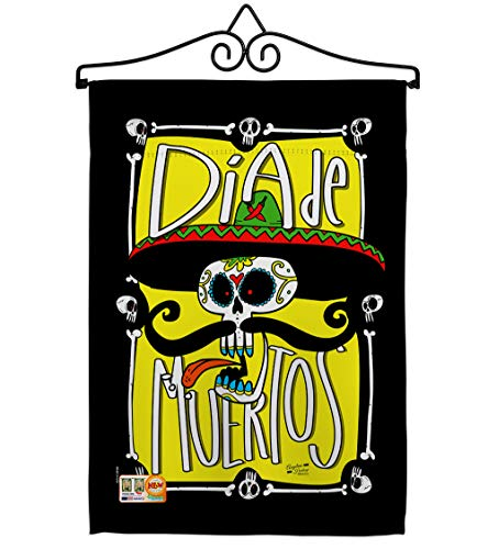 Angeleno Heritage GS137070-BO-02 Dia de Muertos Skull Fall Halloween Impressions Decorative Vertical 13