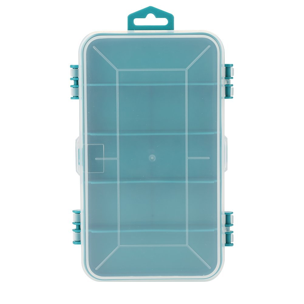 2Color Portable Packaging Box Component Two-sided Storage Transparent Cover Reasonable Slots(1609244mm)(Yellow)