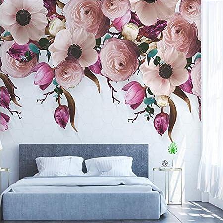 Papier Peint 3D Carrousel Peint /À La Main Intiss/é Trompe LOeil Mural D/écoration Murale Salon Moderne
