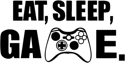 Amazon Com Eat Sleep Game Wall Decal Funny Gamepad Decals Art Vinyl Wall Stickers Video Gamer Sticker For Home Playroom Bedroom Kids Room Decoration Arts Crafts Sewing