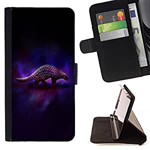 BETTY - FOR LG Nexus 5 D820 D821 - cool animal art armadillo dark - Style PU Leather Case Wallet Flip Stand Flap Closure Cover