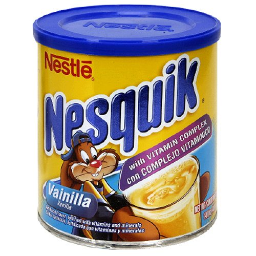 Nestle Nesquik Powder Drink Mix, Vanilla, 14.1-Ounce Cans (Pack of 6)