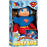Moltó 15869 Superman - Muñeco Gusy Luz Que se Ilumina, 28 cm