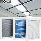 Manual/Motorized Skylight Roof Window Cellular Honeycomb Blackout Blinds Curtain,Website Price=(1pc,Manual Control,Size:39' W x 39' L) Contact Us Customize Size,Or Motorized Power110-240V