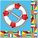 Nautical Beverage Napkins (2-Ply)    (16/Pkg)