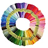 Premium Rainbow Color Embroidery Floss - Cross Stitch Threads - Friendship Bracelets Floss - Crafts Floss -...