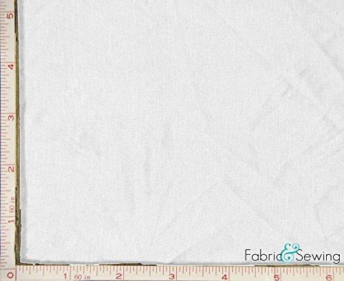 (White Stretch Knit Jersey Fabric 4 Way Stretch Rayon Spandex 9 Oz 58-60