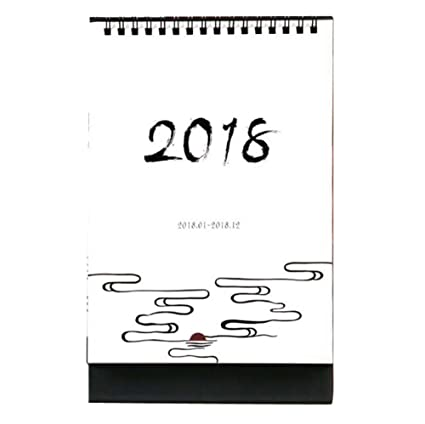 small fresh 2018 officehome calendar desk standing calendar pinemist