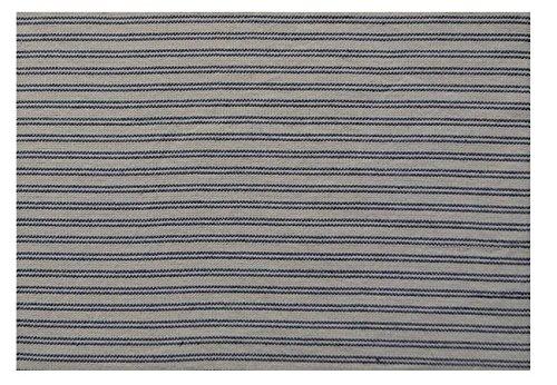 "Pine Creek 14"" x32"" Blue/Cream Vintage Stripe Short Table Ru"