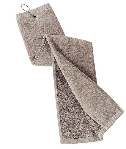 - Port Authority Bath Grommeted Tri Fold Golf Towel OSFA Khaki