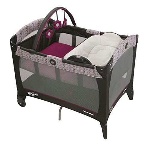 Graco Pink Purple Nyssa Bassinet Changer Travel Playard Pack N Play Pen NIB