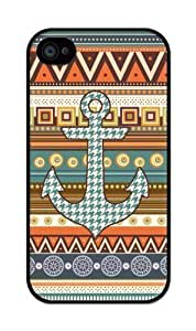 yourdiycase iZERCASE Aztec Pattern with Houndstooth Anchor Hard iphone 4/iPhone 4S case - Fits iphone 4, iPhone 4S Verizon, AT&T, Sprint, T-Mobile and International