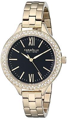 Caravelle New York Women's 44L126 Analog Display Japanese Quartz Yellow Watch