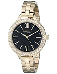 Bulova Caravelle New York Women's 44L126 Analog Display Japanese Quartz Yellow Watch