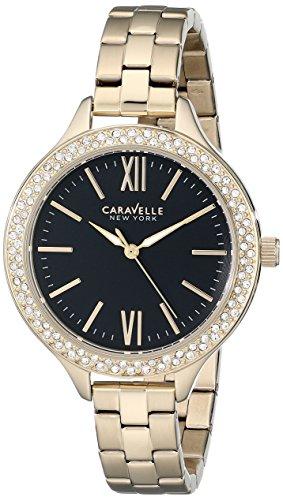 Caravelle New York Women's 44L126 Analog Display Japanese Quartz Yellow Watch by Bulova