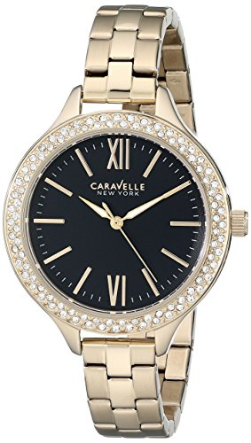 Caravelle New York Women's 44L126 Analog Display Japanese Quartz Yellow Watch