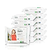 ECO by Naty Flushable Baby Wipes, Unscented, 12 packs of 42 (504 Count)