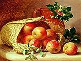 Apples by Eloise Harriet Stannard fruit jug basket Accent Tile Mural Kitchen Bathroom Wall Backsplash Behind Stove Range Sink Splashback One Tile 8''x6'' Ceramic, Glossy