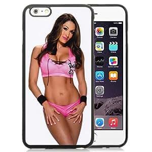 Customized Apple iPhone 6plus Case Wwe Superstars Collection Wwe 2k15 Nikki Bella 05 in Black Phone Case For iPhone 6plus 5.5 TPU Case