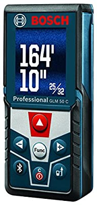 Bosch Bluetooth Enabled Laser Distance Measure with Color Backlit Display GLM 50 C