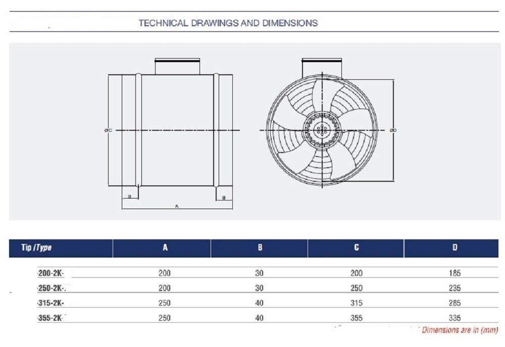 400 mm industrial tubo Extractor Canalizado Ventilador Axial Radial ventiladores Canal 40cm