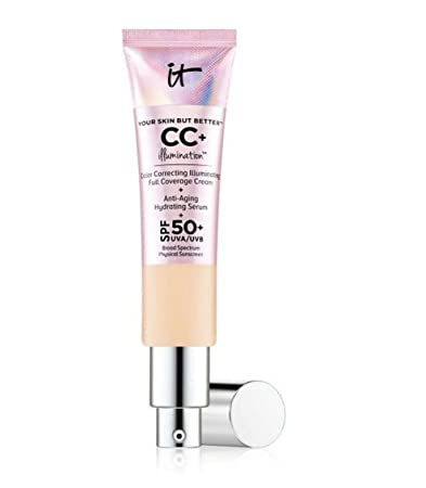 1c4059bc4a208 Amazon.com   It Cosmetics Your Skin But Better CC+ Illumination Full  Coverage Cream - 75 ml 2.53 Ounces - Medium   Beauty