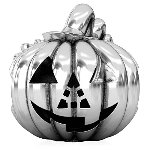 Belle Diy Halloween Costume (BELLA FASCINI Carving The Pumpkin Halloween Tradition Bead Charm - Jack-O-Lantern - 925 Sterling Silver)