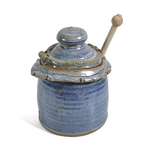 Anthony Stoneware Honey Pot, French - Lidded Pot