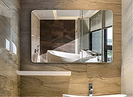 LINSGROUP Dimmable Vanity Bathroom Home/Office LED Lighted Mirror Hanged Two  Way Frameless Backlit