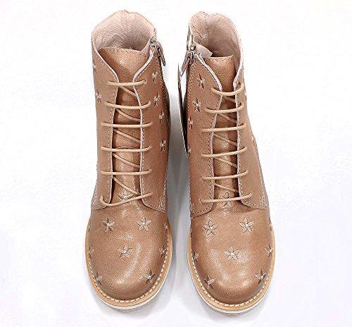 Brako Stiefel Boots nude bronzo 8437 military Leder Blumen