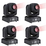 Lixada DMX-512 Mini Moving Head Light RGBW LED Stage PAR Light with Shapes Automatic Professional 9/11 Channel Party Disco Show 25W AC 100-242V Sound Active