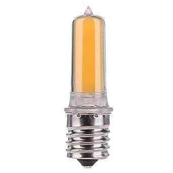 Bombillas halógenas LED de cristal E17 AC 220 V regulable de silicona COB LED bombilla de