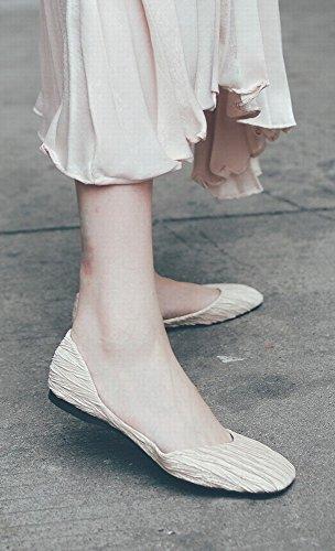 Perezosos Inferior 38 La albaricoque Salvajes Casuales Los Ballet Baja Dhg Boca Cuadrada Zapatos Parte Del De C5ggq