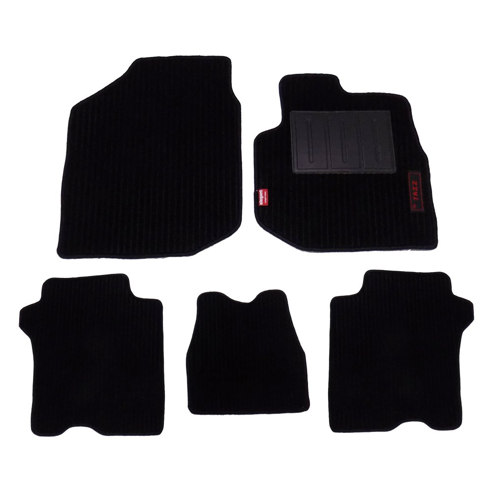 Elegant Non-Woven Car Mats for Honda Jazz (Jazz-FM-Cord-Black) - Set of 5:  Amazon.in: Home & Kitchen