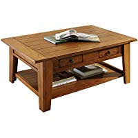 Steve Silver Company Liberty Cocktail Table, Oak, 50 x 32 x 19