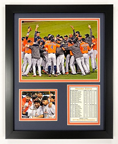 Legends Never Die 2017 MLB Houston Astros World Series Champions Framed Photo Collage, Celebration, 12 x - Champions Series Glass World
