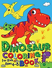 Dinosaur Coloring Book: For Kids ages 4-8