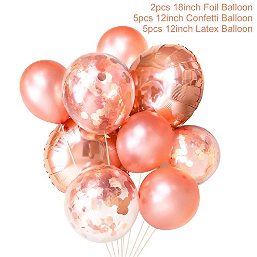 Michael Palmer Rose Gold Heart Balloon Foil Champagne Star Wedding Party Decor Latex Balloon For Birthday Party Decorations Champagne Mixed