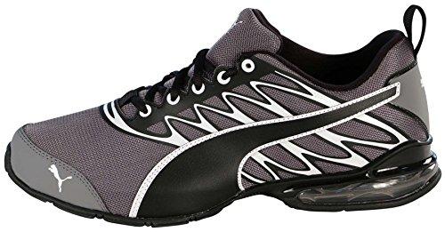 Puma Men's Voltaic Modern Mesh Training Shoes-Steel Gray/Black/White-9.5