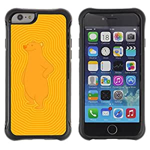 Hybrid Anti-Shock Defend Case for Apple iPhone 6 4.7 Inch / Bear