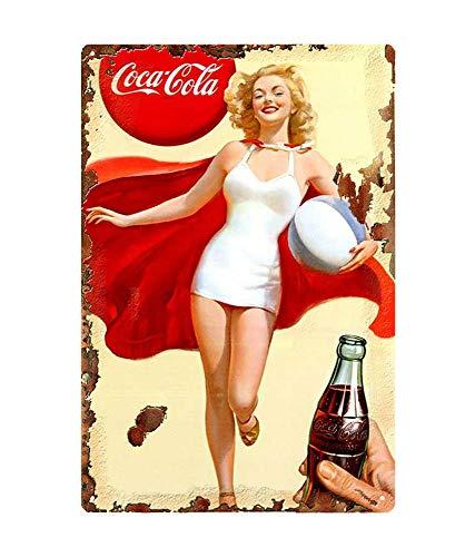 WholesaleSarong Marilyn Monroe coca cola Girl Metal Sign Modern Wall Lodge Cafe Collector Metal Signs