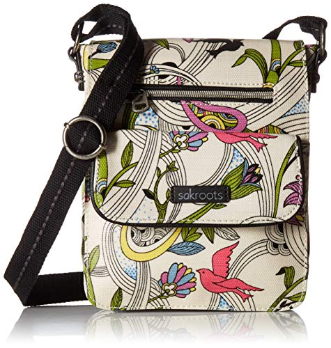Sakroots Unisex-adults Artist Circle Small Flap Messenger, White Peace - Dove Messenger
