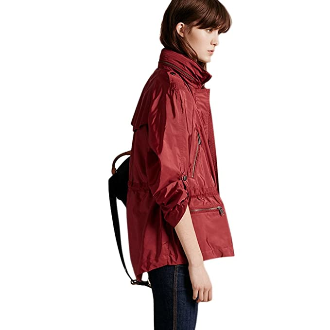 saprex Mujer Cortavientos impermeable estilo británico Trench Abrigos: Amazon.es: Ropa y accesorios
