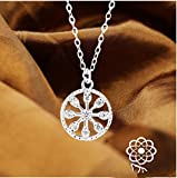 VPlus 1 Pcs Rotary Love Diamond Simple Necklace