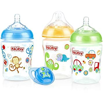 Amazon.com: Nuby 3-Pack Natural Touch 9-oz Reproducido ...
