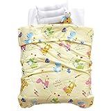 LIFEREVO Cotton Baby Toddler Blanket Spring Summer Quilt Fancy Cartoon Print Lightweight 43''x60'' Yellow Dinosaur